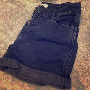 Dark navy high waisted shorts